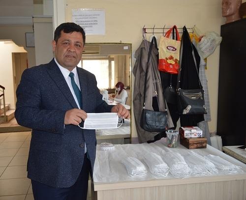 Aydın'da milli mücadele ruhuyla maske üretimi 1
