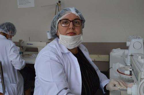 Aydın'da milli mücadele ruhuyla maske üretimi 10