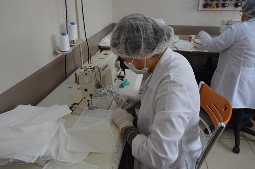 Aydın'da milli mücadele ruhuyla maske üretimi 13