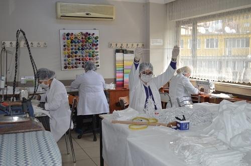 Aydın'da milli mücadele ruhuyla maske üretimi 2