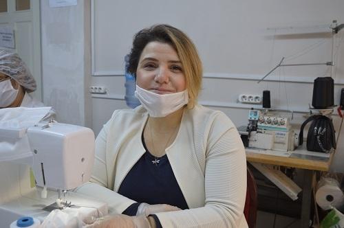 Aydın'da milli mücadele ruhuyla maske üretimi 3