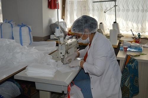 Aydın'da milli mücadele ruhuyla maske üretimi 6