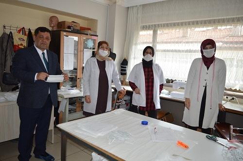 Aydın'da milli mücadele ruhuyla maske üretimi 8