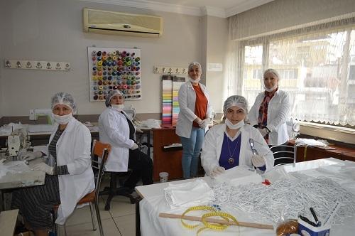 Aydın'da milli mücadele ruhuyla maske üretimi 9