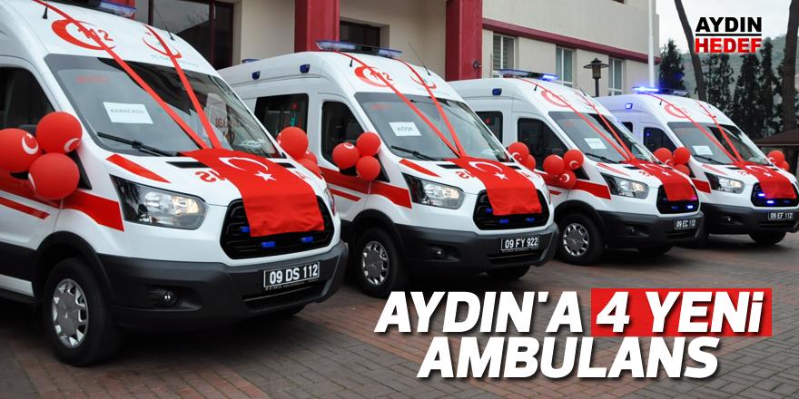 Aydın'a 4 yeni ambulans