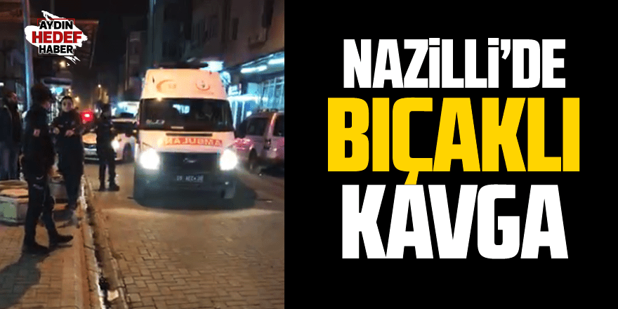 Nazilli'de Suriyeliler birbirine girdi