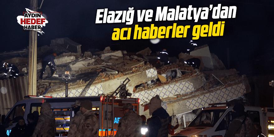 Malatya ve Elazığ depreminden acı haberler geldi