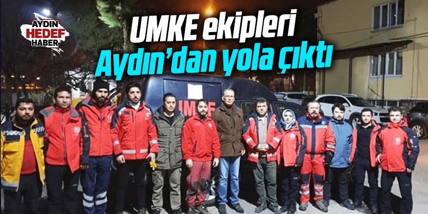 UMKE ekibi Aydın'dan yola çıktı