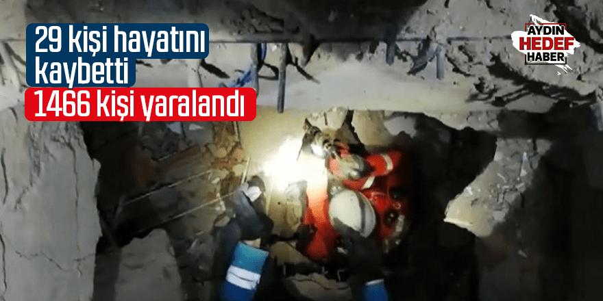 Depremde 29 kişi hayatını kaybetti
