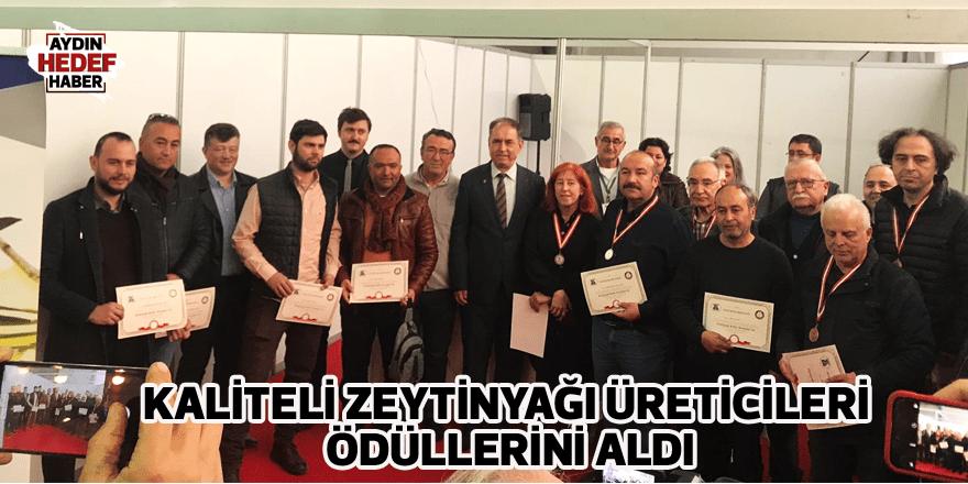 Zeytinyağı Kalite Yarışmasını kazananlar madalyalarını aldı