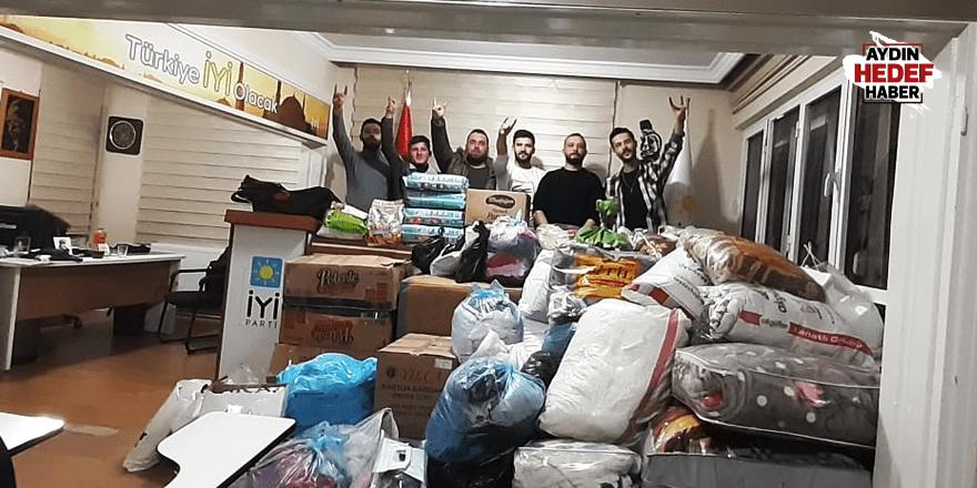 İYİ gençlerden depremzedelere yardım