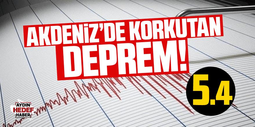 Marmaris'te 5.4 büyüklüğünde deprem!