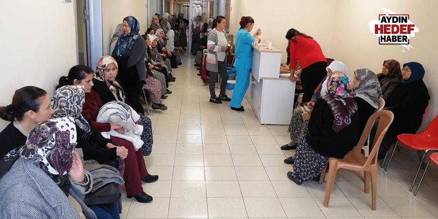 Kuyucak'ta kadınlar kanser taramasından geçiyor