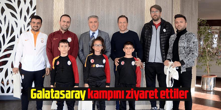 Galatasaray kampını ziyaret ettiler