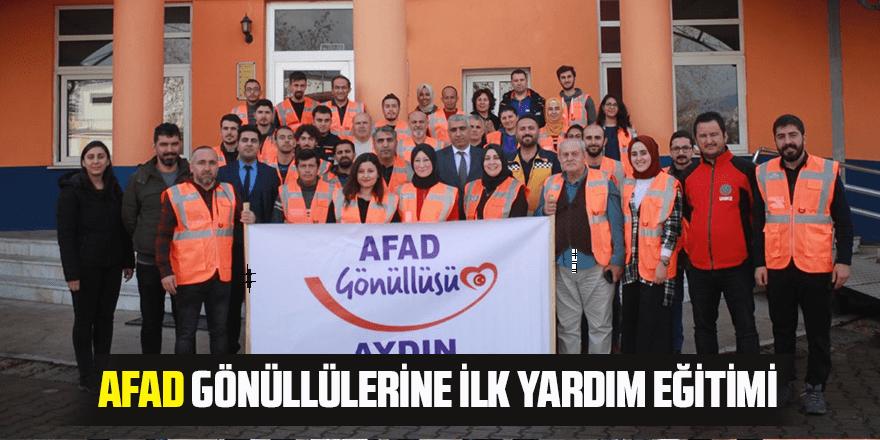 AFAD gönüllerine ilk yardım eğitimi