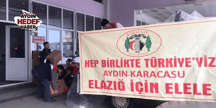Karacasu'da toplanan yardımlar yola çıktı