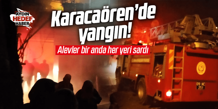 Yenipazar Karacaören'de yangın