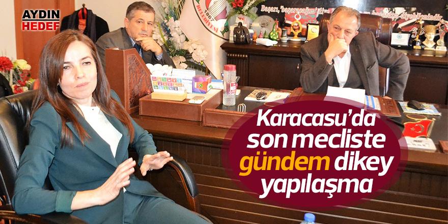 Karacasu'da son mecliste gündem dikey yapılaşma