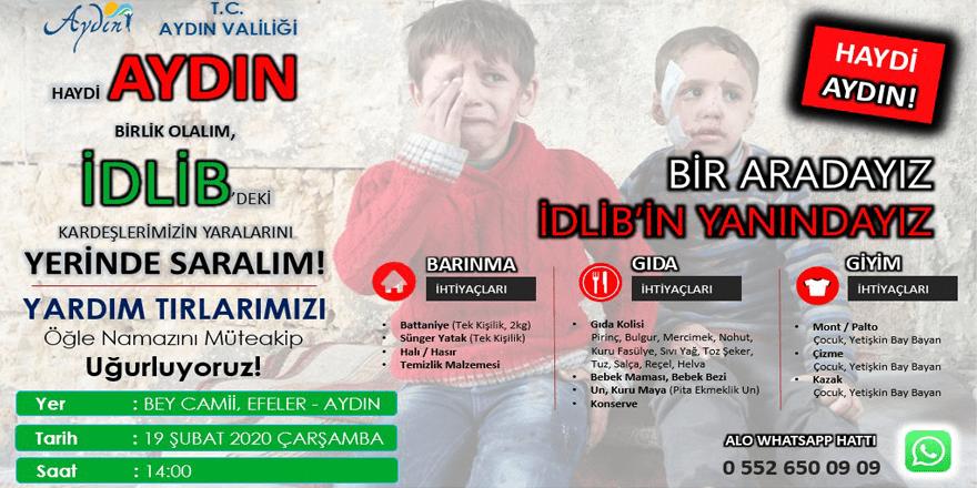 Aydın'dan İdbib'e yönelik yardım kampanyası