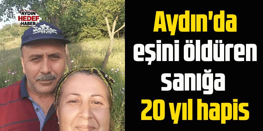 Aydın'da eşini bıçakla öldüren sanığa 20 yıl hapis