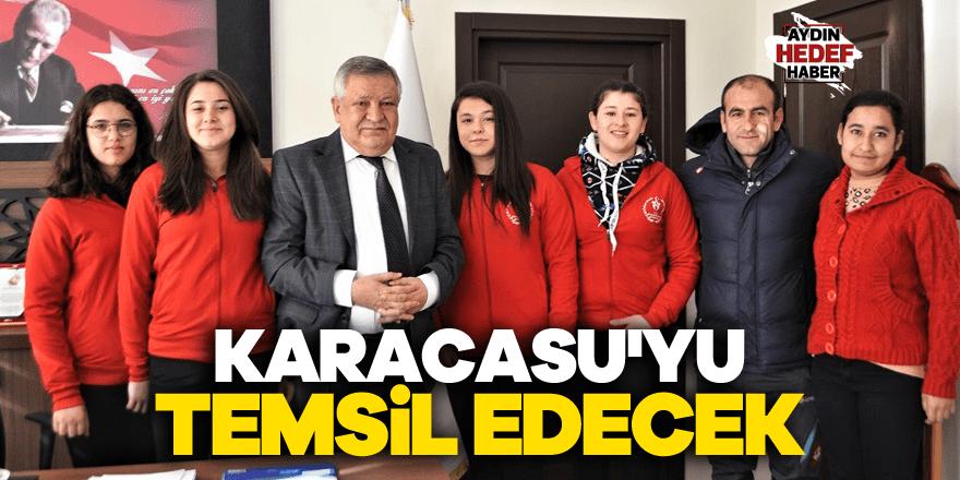 Kız güreşçiler Türkiye şampiyonasında Karacasu'yu temsil edecek