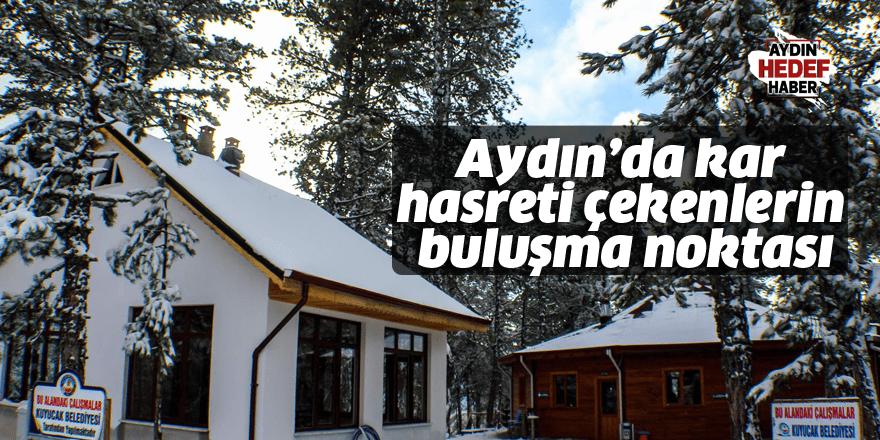Aydın'da kar hasreti çekenlerin buluşma noktası