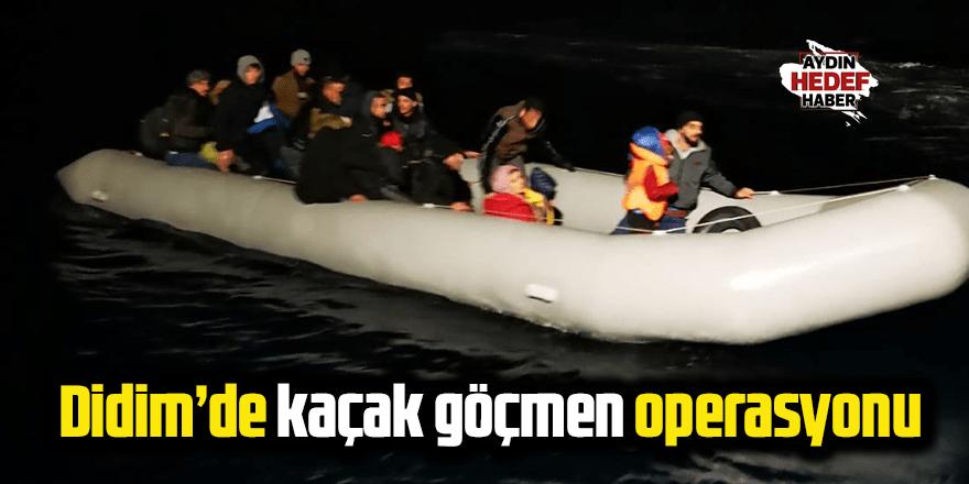 Didim'de kaçak göçmen operasyonu