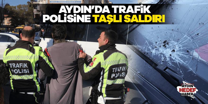 Aydın'da polise taşlı saldırı