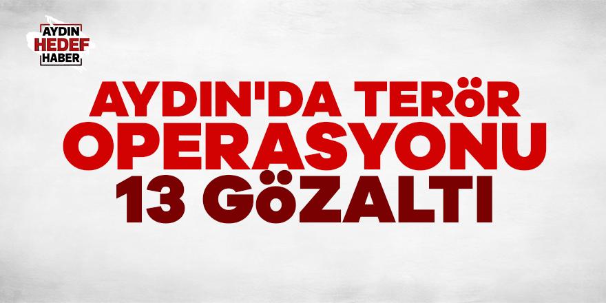 Aydın'da terör operasyonu:13 gözaltı