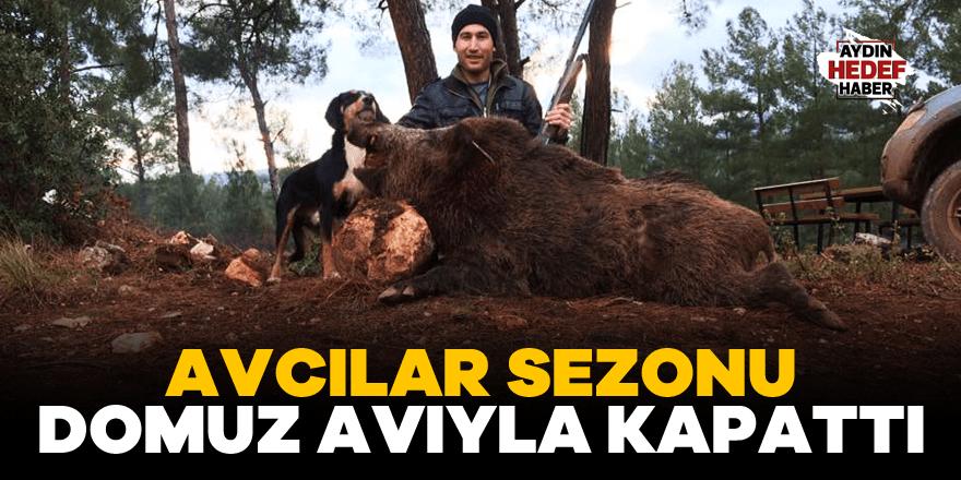 Karacasulu avcılar sezonu domuz avıyla kapattı