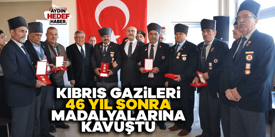 Kıbrıs gazileri 46 yıl sonra madalyalarına kavuştu