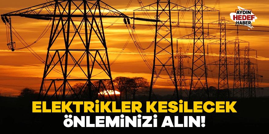 Bozdoğan'da elektrikler kesilecek