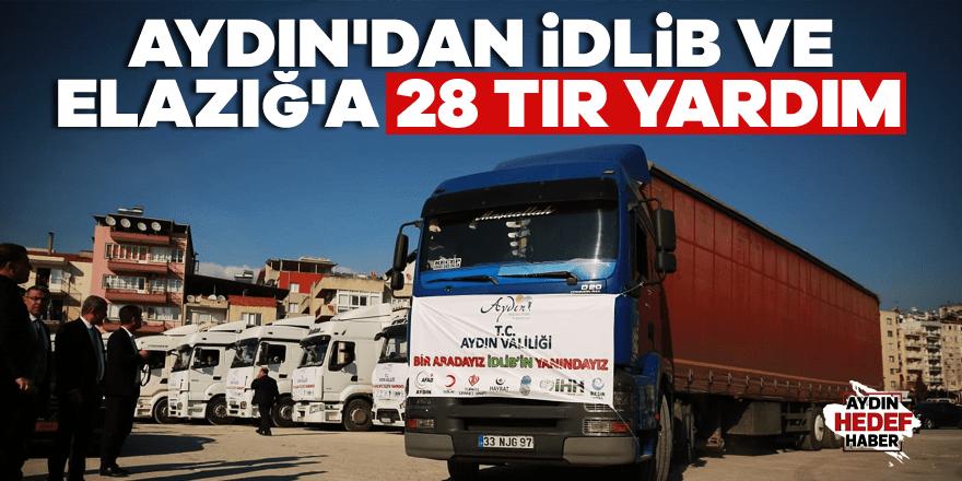 Elazığ ve İdlib'e 28 tır yardım