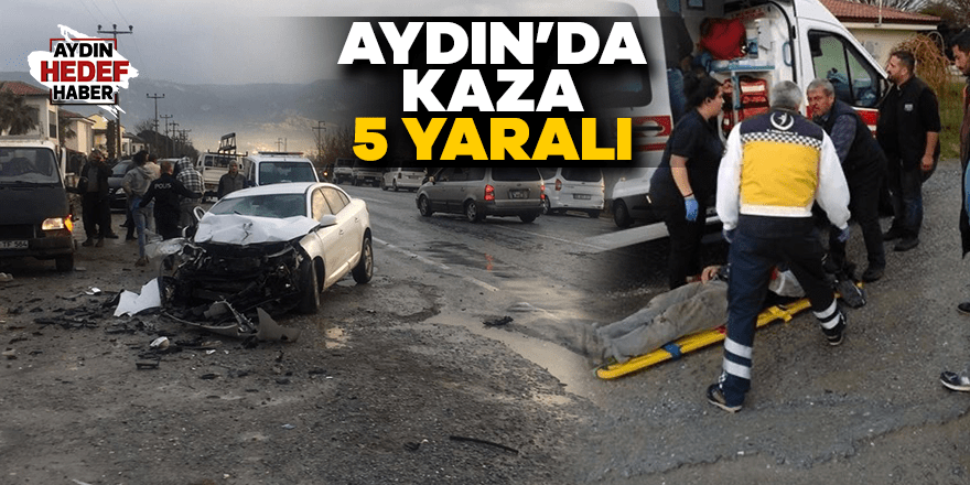 Kuşadası'nda kaza: 5 yaralı