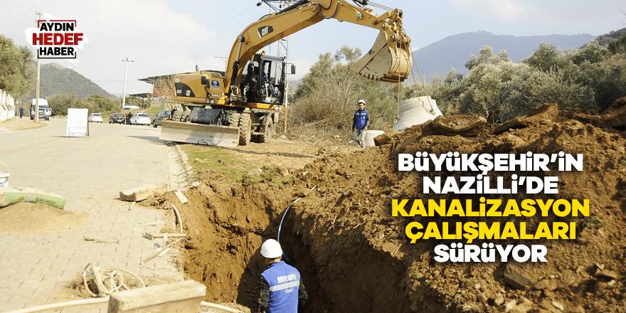 Büyükşehir'in kanalizasyon çalışmaları sürüyor