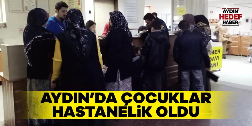 Aydın'da çocuklar hastanelik oldu
