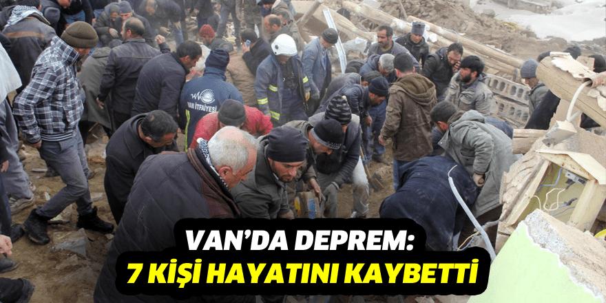 Deprem Van'da can kaybına yol açtı