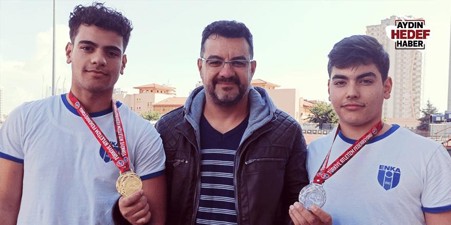 Aydınlı sporculardan iki madalya