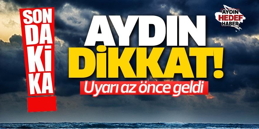 Aydın'da fırtına bekleniyor
