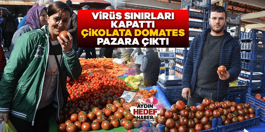 Virüs sınırları kapattı çikolata domates pazara çıktı