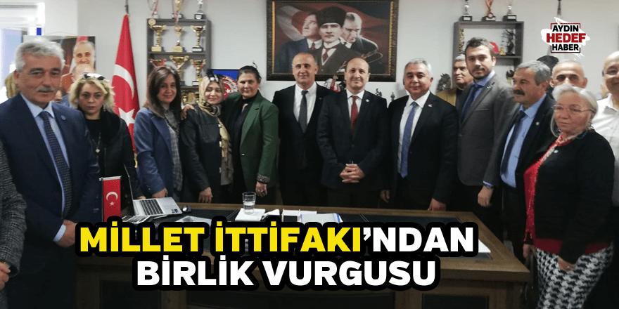 Millet İttifakı'ndan  birlik vurgusu