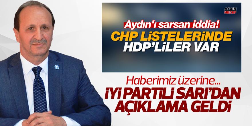 İYİ Parti İl Başkanı Sarı'dan açıklama geldi