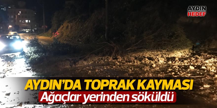 Aydın'da toprak kayması
