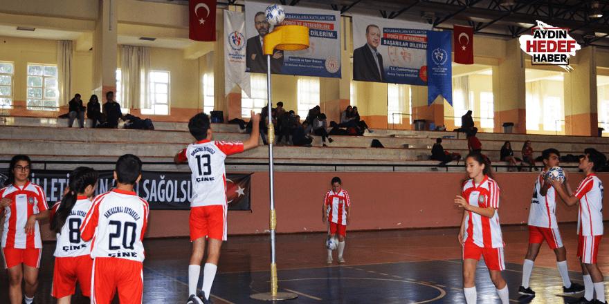 Aydın'da korfbol müsabakası