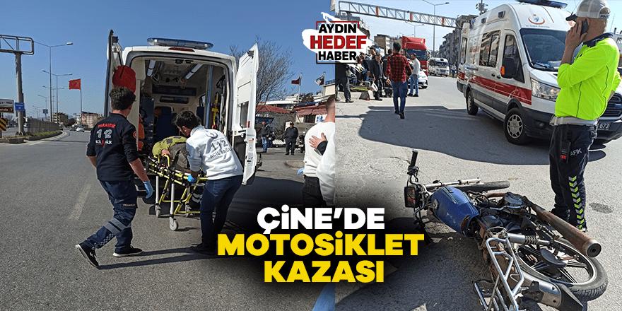 Çine'de motosiklet kazası