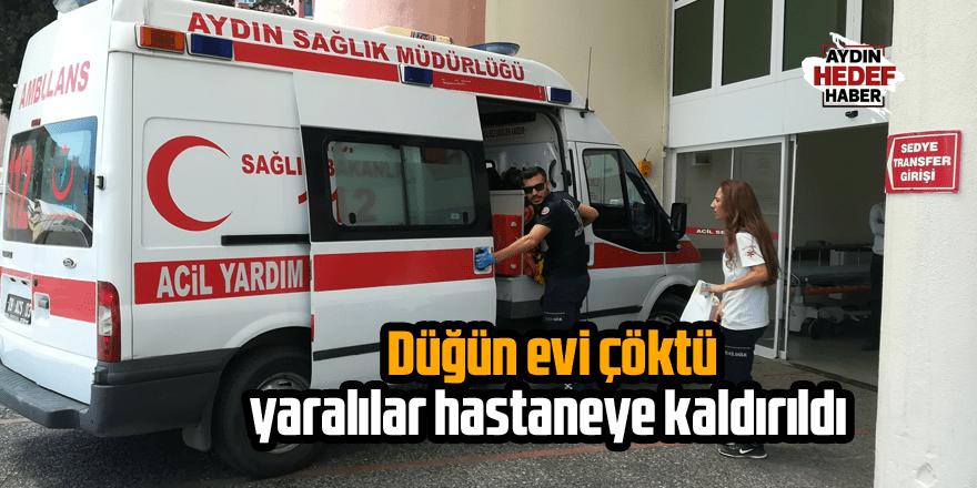 Düğün evi çöktü, yaralılar hastaneye kaldırıldı