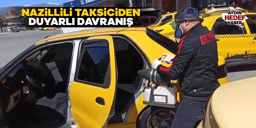 Nazillili taksiciden duyarlı davranış