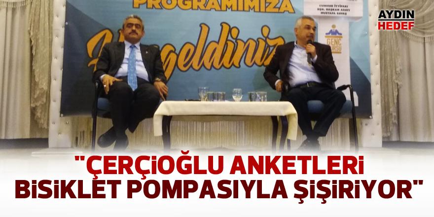 """""""Çerçioğlu anketleri bisiklet pompasıyla şişiriyor"""""""