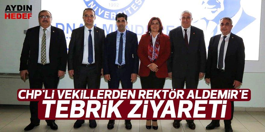 CHP'li Vekillerden Rektör Aldemir'e Tebrik Ziyareti