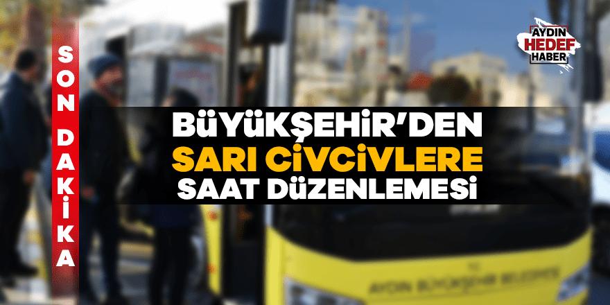 Aydın Büyükşehir'den otobüs saati kısıtlaması